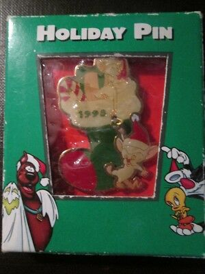 Pinky And The Brain Christmas Pin In Original Box New Old Stock
