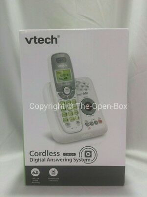 Vtech cs6124 cordless answering system with caller id call waiting vtech cs6124 dect 60 cordless phone white with 1 handset fandeluxe Images