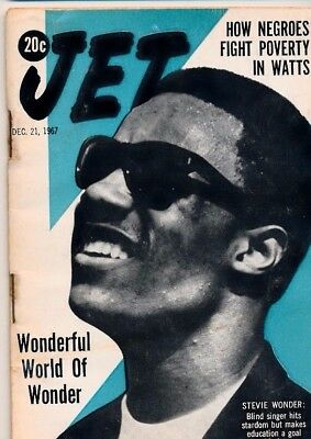 12/2/1967 Jet Magazine STEVIE WONDER 1st Cover BLACKS FIGHT POVERTY WATTS