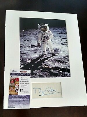 Buzz Aldrin Signed Autographed Matted 8x10 Photo JSA COA Apollo 11