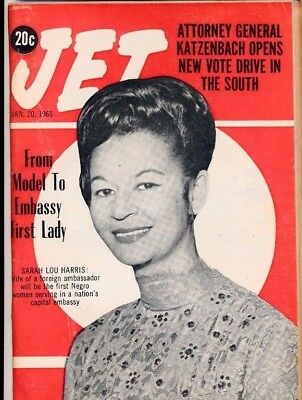 1/20/1966 Jet Magazine Attorney General KATZENBACH Vote drive SARAH LOU HARRIS