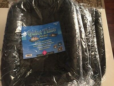 Lot of 6 MidWest Deluxe Bolster Pet Bed for Dogs & Cats New 18 inches Gray