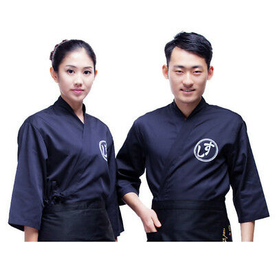 Chef Coat Men Women Japanese Sushi Happi Jacket Restaurant Cook Clothes Uniform