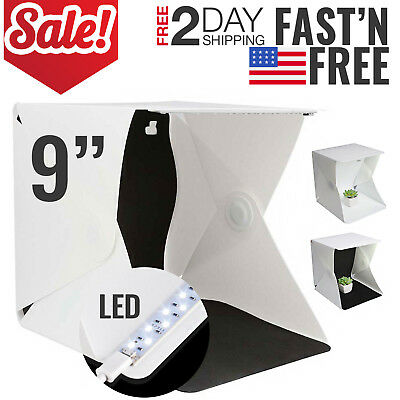 Photo Light Box Studio Photography Shooting Kit Softbox Tent Portable Mini 9""