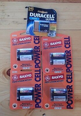 SANYO 2CR5 DURACELL 245 Lithium Photo 6V Battery LOT 5 OLD STOCK 2015