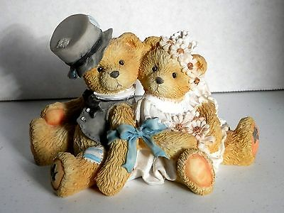 "Cherished Teddies Robbie & Rachael ""Love Bears All Things"" #911402 Bride & Groom"