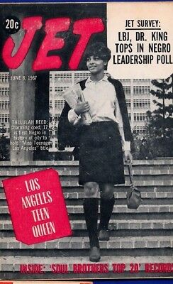 6/8/1967 Jet Magazine LBJ MLK JR. tops in NEGRO leadership poll LA Tallulah REED