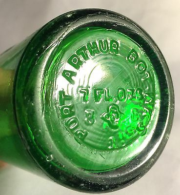 PORT ARTHUR BOTTLING WORKS TEXAS TEX TX PORT-A Soda Water Bottle Green Crown Top