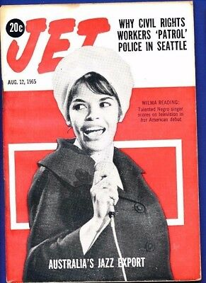 8/1/1965 Jet Magazine WILMA READING JAZZ EXPORT rights workers patrol Seattle