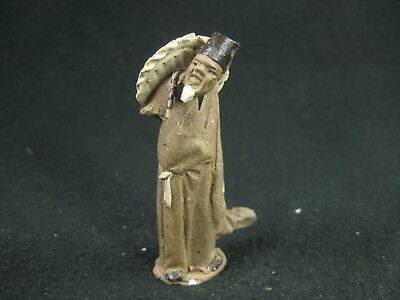 Vintage Chinese Mud Man Legendary Wizard Sennin Figure Doll