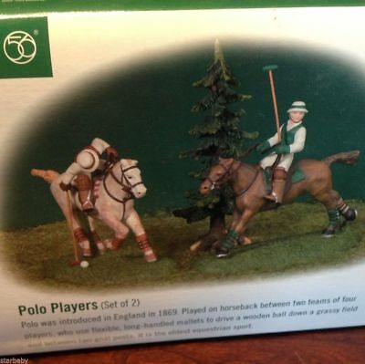 Dept 56 Polo Players The Dickens' Village Series Mint