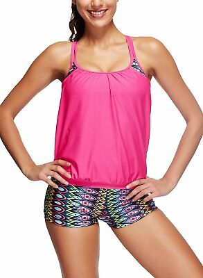 (TG. X-Large) Azue -  Tankini  - Donna Lovely Rose Red X-Large (A3H)