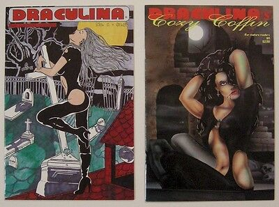 Draculina #1 1993 & Draculina's Cozy Coffin #1 1994 Comic Book lot