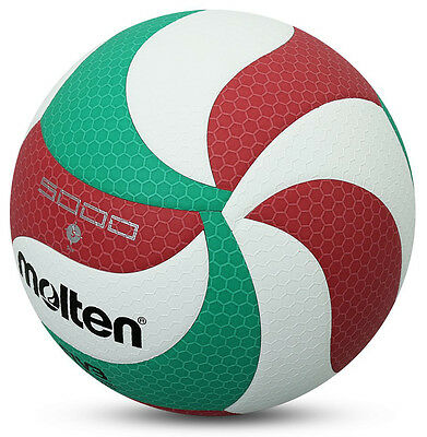 Volleyball Ball Indoor Outdoor Volley Game Official Size V5 Molten M5000 Leather