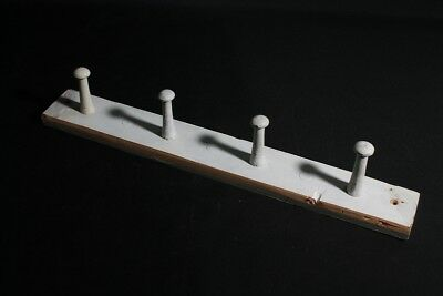 Antique Hook Rail Wood Cult Retro Wardrobe Wooden Trim with Hook