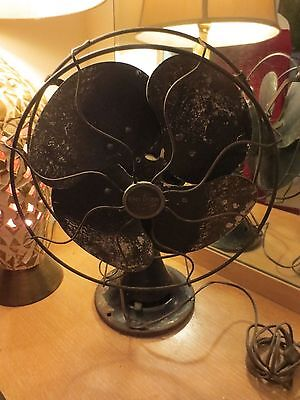 Antique EMERSON 77646 AK Electric Fan First Overlapping Blade Works ALL ORIGINAL
