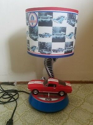 Genial Gt500 1968 Ford Mustang Car Shelby Cobra Table Lamp W/key Sounds Works