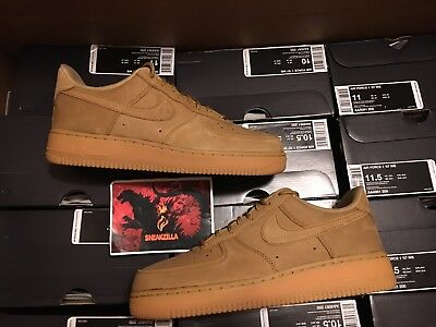 Nike Air Force 1 Low 07 WB FLAX Gum Light Brown Wheat AF1 Tan AA4061-200 8-13