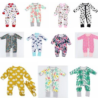 2018 Newborn Baby Boy Girls Cotton Clothes Romper Jumpsuit Bodysuit Outfits lot