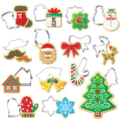 Stainless Steel Christmas Cake Biscuit Cookie Cutter Mold DIY Baking Pastry Tool