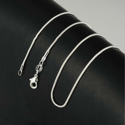Wholesale 925 Silver Plated Chain Women Men Necklace 10''-30'' New Jewelry