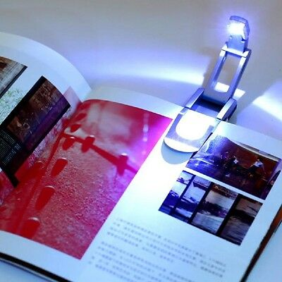 For Book Reading Clip On LED Reading Booklight Lamp Light Bulb Bright  New.