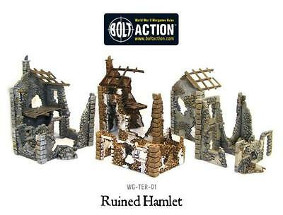 Warlord Games Ruined Hamlet Terrain Set 28mm Scale Miniatures WG-TER-01