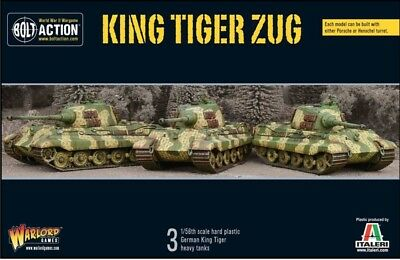 Warlord Games Bolt Action King Tiger Zug German Heavy Tank 28mm Scale