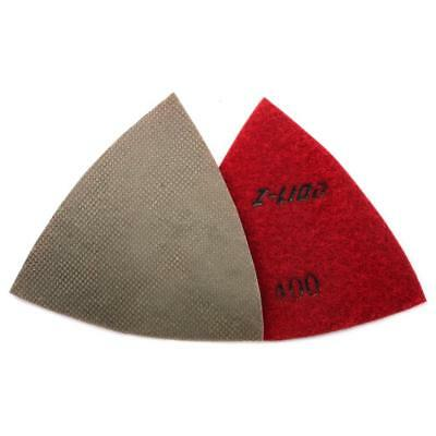 80mm Electroplated Diamond Triangular Dry Polishing /Buffing Pad 400 Grit