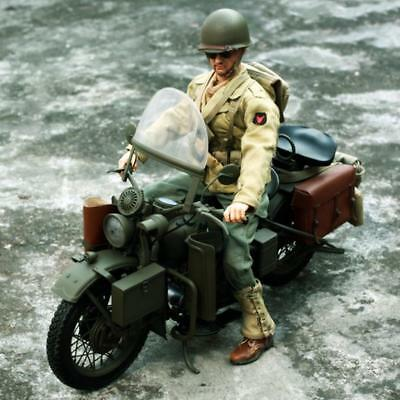 1/6 Scale US Army Soldier WWII Motorcycle for 12'' Captain America Figure