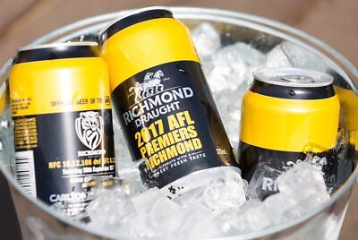 RICHMOND TIGERS AFL premiers premiership 2017 carlton draught single beer can