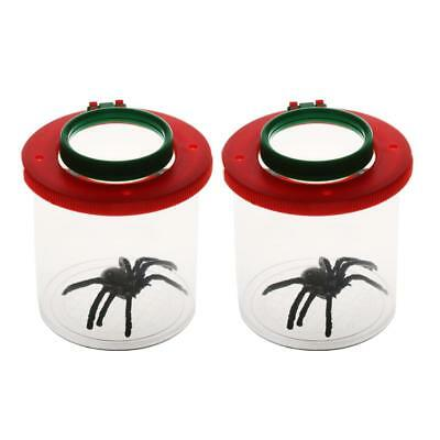 2pcs Bug Viewer Jars Bug Viewer Magnifying For Kid Children Educational Tool