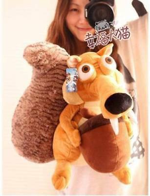 New Cute Large Ice Age SCRAT Squirre Stuffed Plush Toy