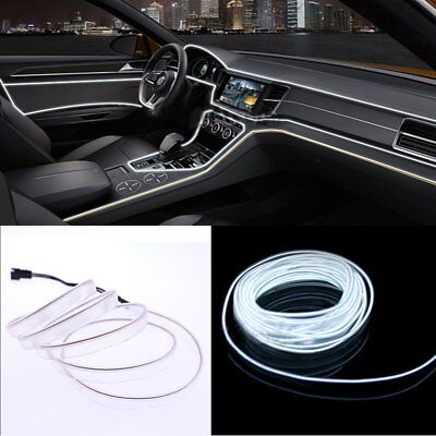 2M 12V White LED Car Auto Interior Decorative Atmosphere Wire Strip Light Lamp