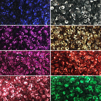3mm Cupped Sequin 1g Sewing/Apparel/Embellish/Embroidery/Patchwork * 8 colours *