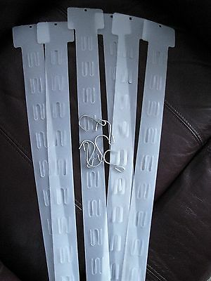 15 Hanging Merchandising Strip Display Plastic Clip Strips for 12 items new hook