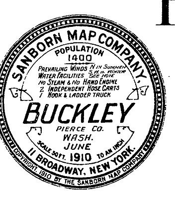 Buckley, Washington~Sanborn Map© sheets with 11 maps sheets on a CD