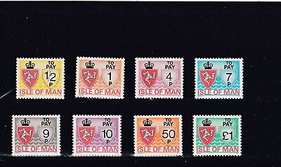 a102 - ISLE OF MAN - SGD9-D16 MNH 1975 POSTAGE DUES SET