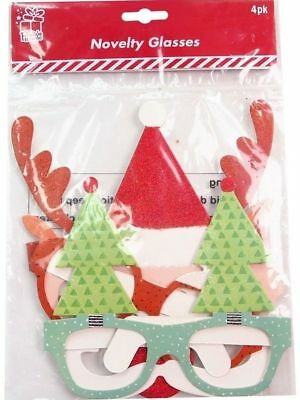 Christmas 4 Novelty Party Glasses