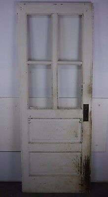 "Antique Vintage Door w/Glass 29-1/8"" X 76-1/2"" (HG) Local Pickup Needs Work!"