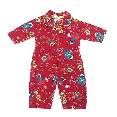 Vintage JCPenney Toddle Time Sesame Street Zippered One Piece 14.5-18 lbs B5