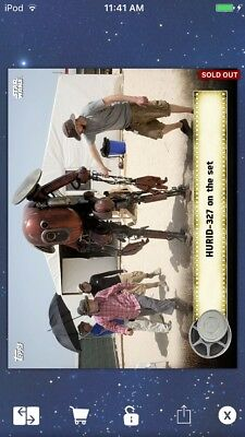 Topps Star Wars Digital Card Trader Gold FA HURID-327 Behind The Scenes Insert