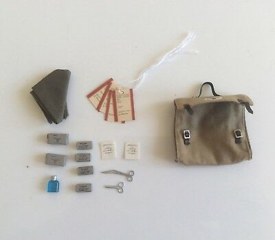 Dragon 1/6 scale WW2 German Army Medic First Aid Bag & various First Aid Items.