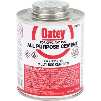 24 Pk Oatey 16 Oz Clear Heavy Bodied ABS PVC & CPVC Pipes & Fitting Cement 30834