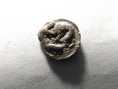 Higher Quality Ancient Greek Silver Coin: Calabria- Herakles, Nemean Lion