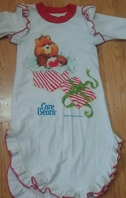 CARE BEARS vintage 1980s girls nightgown pajamas robe polyester JC PENNEY 2 to 3