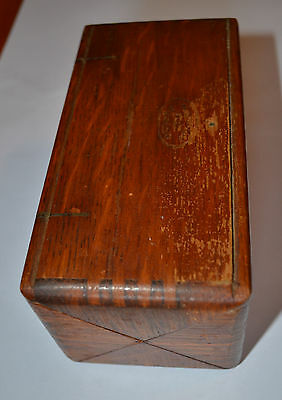 Antique Singer Sewing Machine Attachment Fittings 1888 Oak Dovetail Puzzle Box