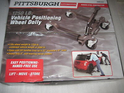 NEW Pittsburgh 1250 lb Capacity Vehicle Positioning Wheel Dolly Car Truck Moving