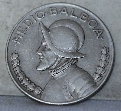 1930 *Silver* Panama 1/2 Balboa  *Free S/H After 1st Item*