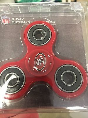 San Francisco 49ers NFL Red 3 Way Diztracto Fidget Hand Spinner